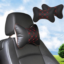 Wholesale Headrest Cushions - New Car Seat Head Neck Rest Cushion Support Pillow Headrest Pad for ford bmw toyota volkswagen Neck Auto Safety Pillow