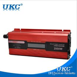 Wholesale Ac Dc Usb Adapters - inverter 12v 220v 2000w 2000W power inverter Car Vehicle USB DC 12V to AC 220V Power Inverter Adapter Converter car styling