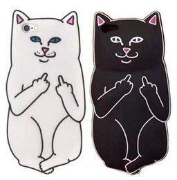 Wholesale Cat Cell Case - 3D Carton Cat Soft Silicone Cell Phone Case Cover for iphone 5 5s 6 ss 6plus i7 i7plus 3D silicone case