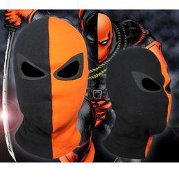 Wholesale Cosplay Arrow - Jla Balaclava Deathstroke Arrow Superhero Cosplay Costume Halloween X-Men Hats Hat Deadpool Cotton Rib Fabrics Full Face Mask