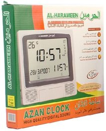 Despertador fajr on-line-Atacado-1150 Cidades Digital Wall Muçulmano Azan Relógio Ore Despertador com Automático Fajr Alarme Calendário Hijri HA-4009