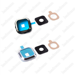 Wholesale Camera Repair Parts - For Samsung A1 A2 A3 A5 A7 A310 A510 A710 Back Rear Camera Lens Frame Camera Cover Replacement Repair parts Free DHL