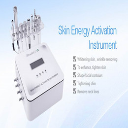 Wholesale Micro Current Machines - 2017 Newest 7 in 1 Skin Energy Activation Instrument Micro Current Facial Rf Machine with CE DHL Free Shipping