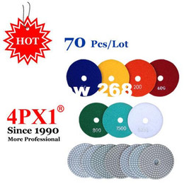 Wholesale Granite Wet Polishing Pads - Wet Polishing Pad Buffing Pads 4 Inch Diamond Polishing Pad For Granite Marble Concrete Countertops Tile Polishing Discs 4PX1