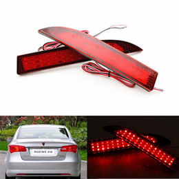 luz de freno de estacionamiento Rebajas 2x LED Car styling Red Lens Rear Bumper Reflector Luz Niebla Aparcamiento Advertencia Luz de freno Luz Stop Bulbs Lámpara de cola para Roewe 350