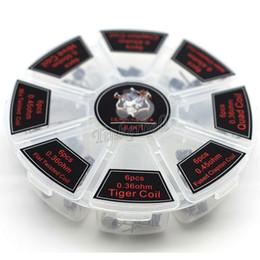 Bobina de alambre para atomizador online-8 en 1 Demon Killer Wire Prebuilt Coils Clapton Quad Tiger Hive Alien Fused Clapton Mix Twisted Coil fit DIY atomizador