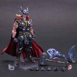 Wholesale Finished Wood Products - Thor Action Figure Playarts Kai Anime Toy Movie Thor Collection Model Toy Play Arts Kai Figures 270mm
