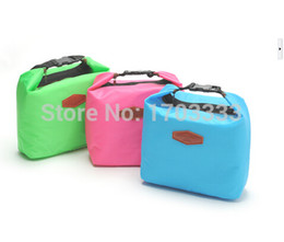 Wholesale Thermal Bags For Lunch - High quality Portable Multifunctional Thermal Lunch Bag Ice Cooler Handbag For Picnic Free Shipping 100pcs