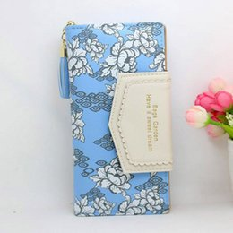 Wholesale Best Handbag Brands For Women - New brand Designer Women Wallet Bags Best Leather Floral Clutch Purse Lady Long Handbag Bag 6 Colors For Woman