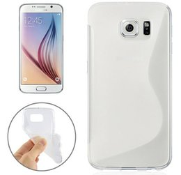 Wholesale Cover For Galaxy S Phone - S Line TPU Soft Gel Rubber Phone Cases For Samsung Galaxy S7 S7 Edge S6 iPhone6 Plus Dirt-resistant Back Covers