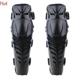 Wholesale Motocross Safety Gear - New Motorcycle Knee Pads Racing Sports Athletic Safety EVA Nylon Motocross Knee Protector Pads Guards Protective Gear Black Knee Pad TK1188