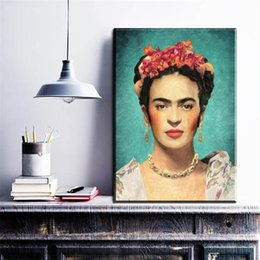 Wholesale Poster Printing Free - free shipping frida kahlo poster oil painting prints on canvas paintings for Living room and bedroom decoration best buy unframe
