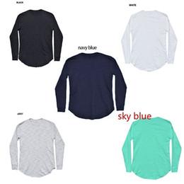 99a2df117eb287 European Style Colored Kapuzen Long Shirt Langarm Männer Langarm-T-Shirt  Weiß