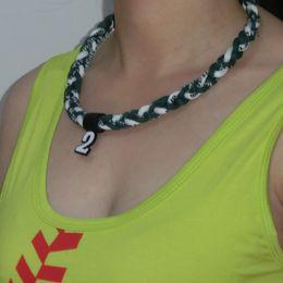 Wholesale Ge Titanium Necklaces - Ge-Titanium Sports Energy Twisted Necklaces (GT-063) tornado necklace 3 ropes necklace