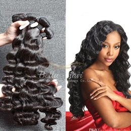 26 inch hair extentions Coupons - Brazilian Hair Weave Bundles Human Hair Extentions Weft 100% Unprocessed Human Hair Weaves Loose Deep Natural Color Double Weft Bella Hair
