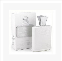 Wholesale Brand Men Perfume - High quality with good price perfumes brand cologne Creed sliver mountain water for men cologne 120ml with long lasting time good smell