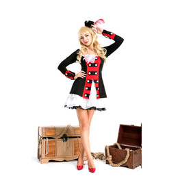 Wholesale Women Maid Lingerie - Free shipping 2016 new queen of halloween costumes pirate costumes sexy women's clothing costume sexy maid lingerie catsuit dress