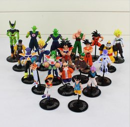 Wholesale Dragon Ball Cell - Dragon Ball Z GT Action Figures Crazy Party 10CM Cell Freeza Goku PVC Dragonball Figures Best Gift 20pcs set Free Shipping