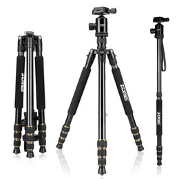 Wholesale Photographic Cameras - Zomei Z688 Professional Photographic Travel Compact Aluminum Heavy Duty Tripod Monopod&Ball Head for Digital DSLR Camera