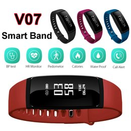 wireless heart rate monitors Coupons - Blood Pressure SmartBand V07 Smart Band Bracelet Heart Rate Monitor Wireless Fitness Tracker Pedometer Bluetooth Wristband Watch Smartband
