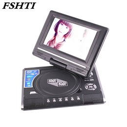 Wholesale Tv Multimedia Portable - 7.8 Inch Portable DVD Player Digital Multimedia Player U Drive Play with FM TV Game Card Read Function VCD DVCD MP4 MP5