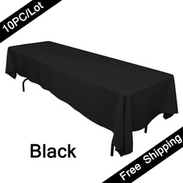 Wholesale White Polyester Tablecloths Round - 10PC Wedding Table Cloth  Polyester White Table Cover Cloth  Hotel Table Cloth Round Tablecloth Factory Wholesale in Event & Party Supplies