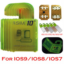 Wholesale Iphone S Unlocked - RSIM 10+ Unlock Card for iphone 6s 6 5S 5 4S ios9 9.X 3G 4G CDMA Sprint AU Softbank s direct use no Rpatch