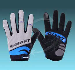 Wholesale Giant Green Bicycle - Bike Cycling FULL Finger GIANT Gloves Bicycle Glove Size M - XL 3 color for choose