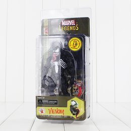 Wholesale Black Spider Man Figure - 17cm Black Spider-man Venom PVC Action Figure Collectable Model Toy for kids gift free shipping retail