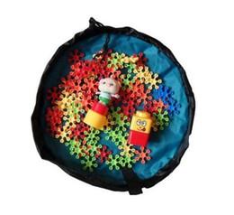 Wholesale Play Mat Sale - Free DHL whole sale baby 45cm play mat toy storage bag Beach storage bag picnic toys storage bag Blanket Rug Boxes Lego Toys Organizer
