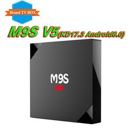 Wholesale Quad Core 1gb Ram Hd - 1GB RAM rk3229 M9S V3 V5 4K Ultimate HD Android 6.0 smart tv box 8gb Quad Core 2.0GHz Hardware KD17.3 WIFI Smart tv box VS H96 T95Z PLUS