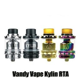 Wholesale Wholesale For Pyrex - 100% Original Vandy Vape Kylin RTA Rainbow 2 6ml Airflow Control Atomizer Pyrex Glass Tank For 510 Thread Box Mod