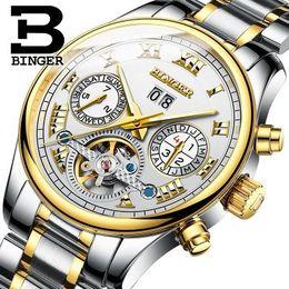 Wholesale Cheap Tourbillon Watch - Men automatic mechanical watch Tourbillon clock Cheap casual business watches top brand sports wristwatch relogio masculino