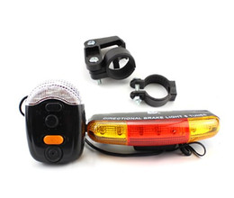 Wholesale Bicycle Brake Sets - 7 LED Bicycle Turn Signal Brake Light Taillight Bike Lamp Set 8-Tune Horn for Outdoor Cycling Safety