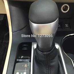 Wholesale Auto Gear Knob Cover - For 2015 Toyota Highlander ABS Chrome Gear Shift Knob Cover Decoration Trim auto parts Car Styling sticker door trim Interior Accessories