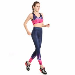 Wholesale Cotton Tights For Women - Wholesale-Lady Women Yoga Pants Shinny Stars Red Sports Leggings Capris For Female Fitness Workout Tights Leggings Sport Bodybuilding Kits