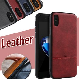 Wholesale Protection Business - 2 in 1 Hybrid Luxury Silicone Business Retro Leather Pattern Shockproof Protection Slim Soft Gel Frame Cover Case For iPhone X 8 7 Plus 6 6S