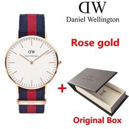 Wholesale Womens Mens Watch - 2017 New White dial mens womens Wellington watches 40mm Men watches 36 Women Watches Luxury Quartz Watch Female Clock Relogio Montre Femme