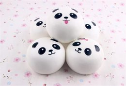 Wholesale Mini Panda Squishy - TO Us New 2018 cute Panda Squishy Buns Bread Charms, Mini panda expression(4cm) Squishies Cell Phone Straps,