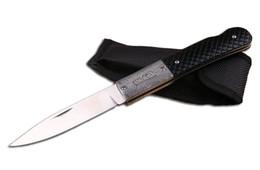 Wholesale Handmade Hunting Knives - 201609 Handmade Folder FB3021 440 58HRC Blade Pretty Pattern Handle EDC Pocket Outdoor Survival Knife With Nylon Sheath F675E