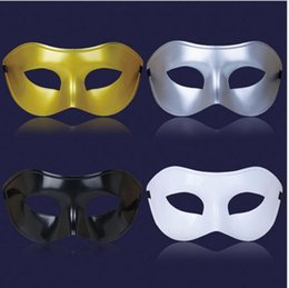 Wholesale Silver Masquerade Masks For Men - 100PCSChristmas mask Venice mask masquerade party supplies plastic half face mask 4 colors, free send DHL