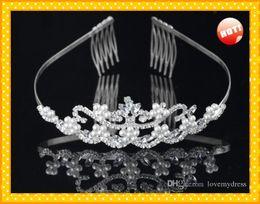 Wholesale Cheap Titanium Jewelry - Wedding Bridal Sets Jewelry Set Jewerly Pearls Cheap Price Sparked Bling Rhinestone Beautiful Fashion In US Hot Sales Wonderful