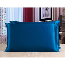 Wholesale 1 Pair cm cm Silk Pillow Case Top Quality Pillow Cover