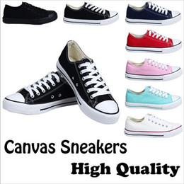 Wholesale Open Toe Lace Up Shoes - Fast shipping size 35-46 Factory price promotional price!femininas canvas shoes women and men,high Low Style Classic Canvas Shoes Sneakers