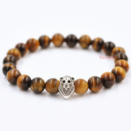 Wholesale Titanium Rope Wholesale - Bohemian jewelry natural agate beads bracelet evil transit Lionhead Thanksgiving Day present Free shipping shoppin g crazy