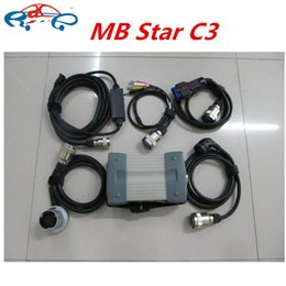 Wholesale Star Tester - MB Star C3 Diagnostic Multiplexer Tester with full cables for MB Car&Truck Diagnostic mb star c3 without software free shipping