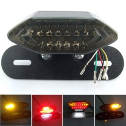 Wholesale Integrated Turn Signal Tail Light - 20LED All in One Motorcycle Lens 20 LED Lights Integrated Tail Brake Stop Running License Lamp Bulb Motorcycle Tail Turn Signal For Quad ATV