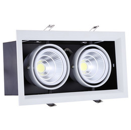 Wholesale Size 15w - Hot sale Super 2*15W Warm Cold White Double COB LED Downlight with power Driver 30W COB LED Ceiling Light Size:275*145mm AC85-265V