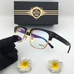 Wholesale Eyeglasses Frame Men Brand - new dita glasses prescription eyewear frame vintage frame semi-rimless men brand designer eyeglasses with original case