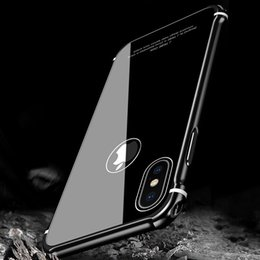 Wholesale Iphone Aluminum Back Cover - New Case For iPhone X Case Luxury Aluminum Metal Bumper+Tempered Glass Back Armor Phone Case Cover for iPhone X 10